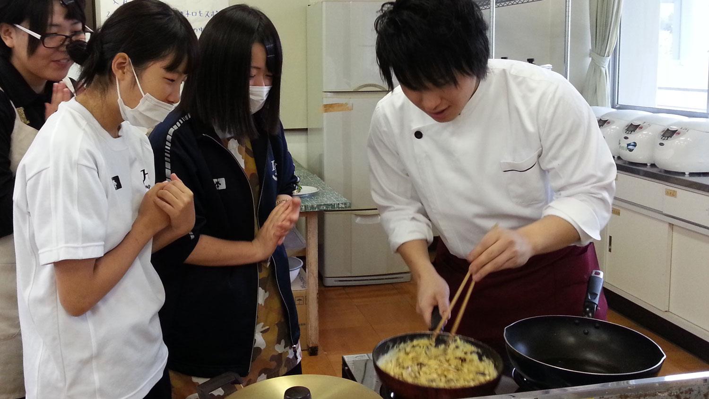 飯南高校講演&料理教室