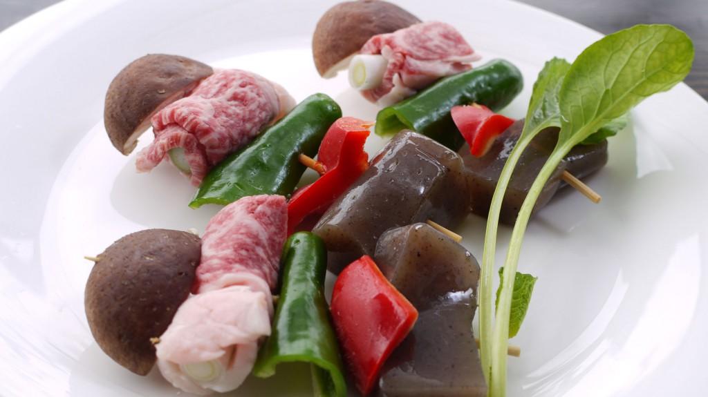 奥出雲和牛と飯南野菜のプロシェット