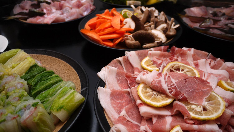 飯南町野菜・カマス・カワハギ・豚肉の蒸し料理@131025_秋の食卓バイキング提供