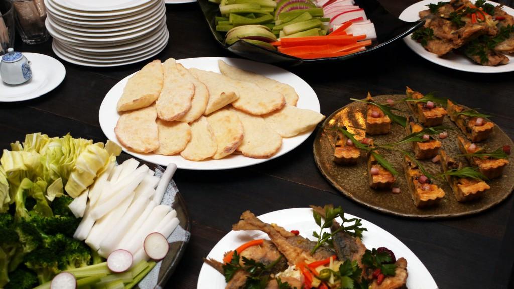 飯南町の野菜をふんだんにつかった食卓バイキング