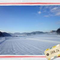 雪景色の島根県飯南町