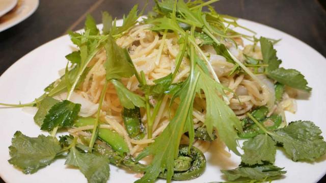 山菜パスタ(温)