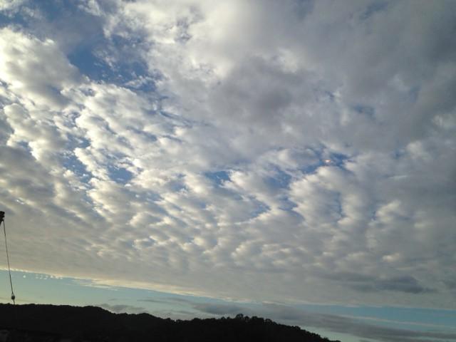 2014年8月12日の青空に浮かぶ雲